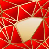 Fabulous triangles in gold. Stock Images