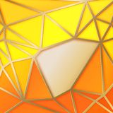 Fabulous triangles in gold. Royalty Free Stock Images