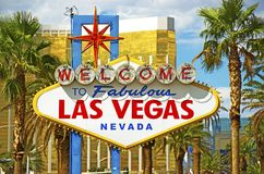 Fabulous Vegas Sign Stock Photography