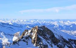 Fabulous Views – Kitzsteinhorn Mountain ski area, Austria. Stock Photo