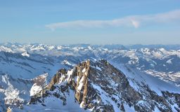 Fabulous Views – Kitzsteinhorn Mountain ski area, Austria. Stock Photo