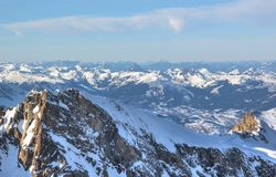Fabulous Views – Kitzsteinhorn Mountain ski area, Austria. Stock Image