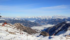 Fabulous Views – Kitzsteinhorn Mountain ski area, Austria. Royalty Free Stock Image