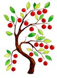 Fabulous watercolor apple tree stock illustration