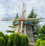 Fabulous windmill in the park royalty free stock photography