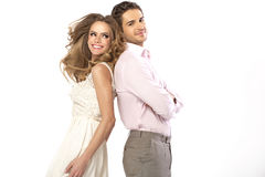 Fabulous young couple in romantic pose Royalty Free Stock Photos