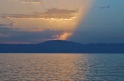 Fabulously beautiful sunset in Njivice Royalty Free Stock Images