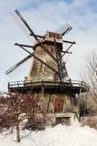 Fabyan Windmill in winter scenery Stock Image