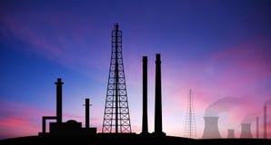 Fac eléctrico del negocio industrial de la industria de la central eléctrica de la central eléctrica Imagen de archivo libre de regalías
