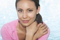 Faca красивейшей молодой женщины естественное Стоковое Фото