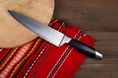 Faca de cozinha home Fotografia de Stock