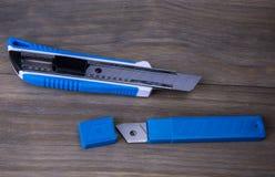 Faca do cortador e lâminas de reposição Imagem de Stock Royalty Free