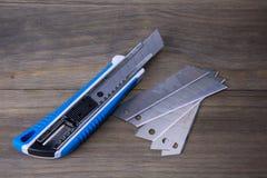 Faca do cortador e lâminas de reposição Foto de Stock