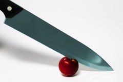 Faca e maçã Foto de Stock Royalty Free