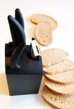 Faca e pão fotografia de stock royalty free