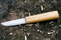 Faca Yakut feito à mão tradicional Imagens de Stock