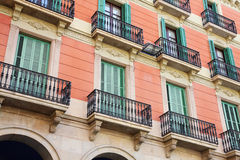 Facade. Of an old apartment house Royalty Free Stock Image