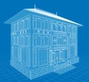 facade royaltyfri illustrationer