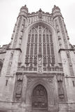 Facade of Abbey, Bath Royalty Free Stock Photo