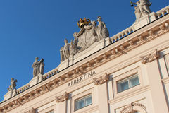 Facade of the Albertina Museum - Vienna - Austria Royalty Free Stock Images