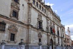 Facade of the Alcala de Henares University, Madrid, Spain Royalty Free Stock Photo