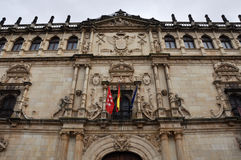 Facade of the Alcala de Henares University, Madrid, Spain Stock Image