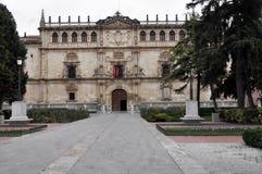Facade of the Alcala de Henares University, Madrid, Spain Stock Images