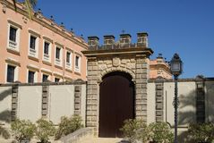 Facade of the Alcazar de Jerez Stock Images