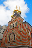 Facade of the Alexander Nevsky Church in Danish capital. Royalty Free Stock Photo