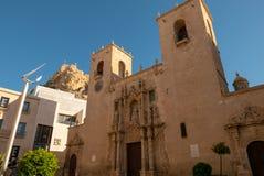 Facade of the Alicante co-cathedral, stock photo