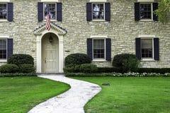 Facade of American mansion Stock Photo