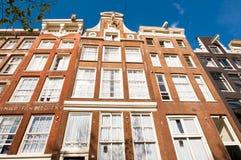 Facade of Amsterdam building, Netherlands. Stock Photo