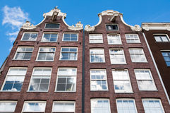 Facade of the Amsterdam17th century residence building, Netherlands. Royalty Free Stock Images