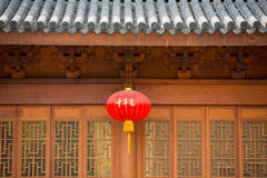 Facade of an ancient Chinese temple Stock Photography