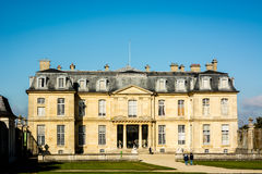 Facade of an ancient French castle. On a clear day Royalty Free Stock Image