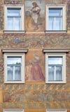 Facade of ancient house Stock Photos