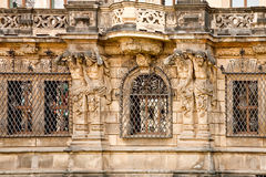 Facade of ancient house Royalty Free Stock Photo