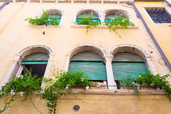facade of an ancient house in Venice Stock Photography