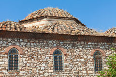 Facade of the ancient orthodox church. Athens Stock Photo