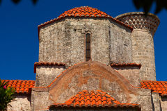 Facade of ancient orthodox church. Stock Images