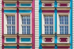 Facade of ancient tenement Stock Photo