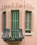 Facade of Antoni Gaudi. House of Antoni Gaudi in Park Guell in Barcelona Spain Stock Images