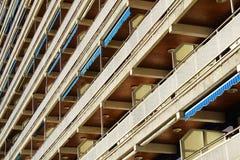 Facade of apartmens with balconies Stock Photos