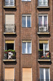 Facade of apartment block Stock Image
