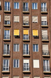 Facade of apartment block Stock Images