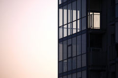 Facade of apartment building against the sky. The facade of apartment building against the sky Stock Photo