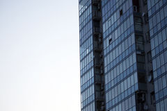 Facade of apartment building against the sky Stock Photography