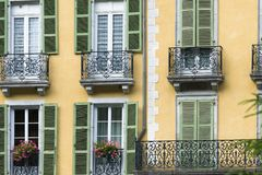 Facade of an apartment building in France