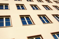Facade of apartment house Stock Photos