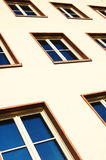 Facade of apartment house Royalty Free Stock Images